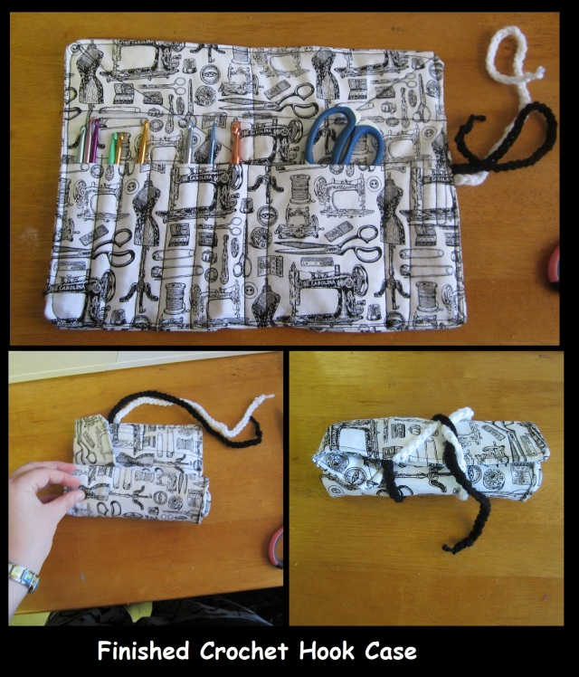 Finished Crochet Hook Case