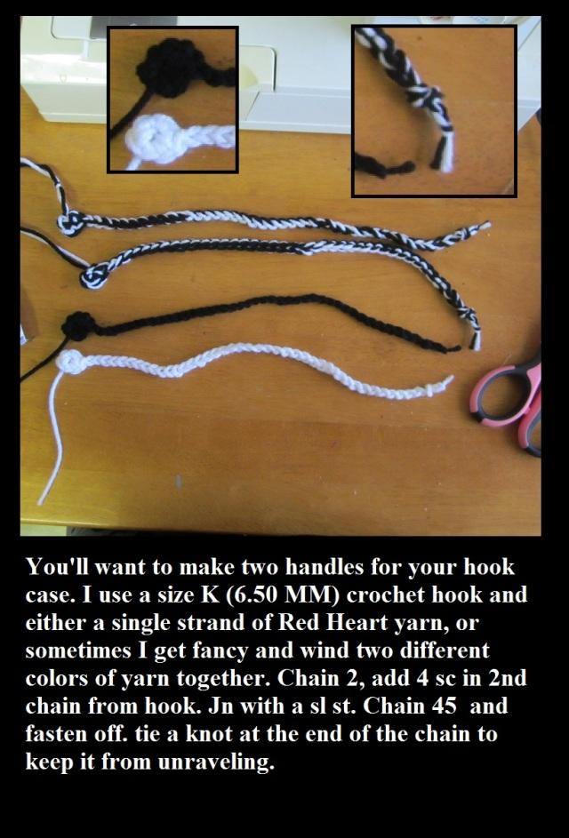Handles to crochet hook case