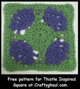 Thistle Inspired Square Crochet Pattern
