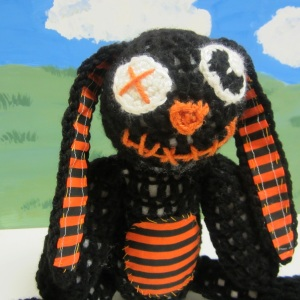 Goth Bunny Rabbit Crochet Pattern