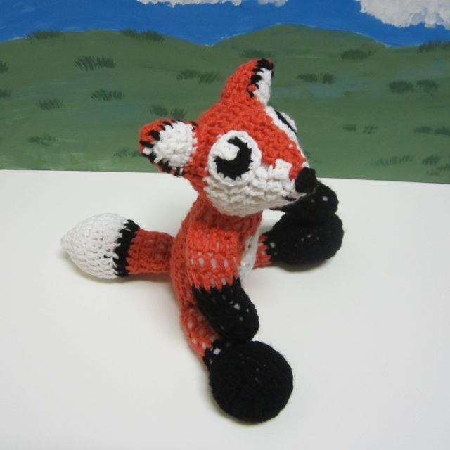 Fox Doll Side Above