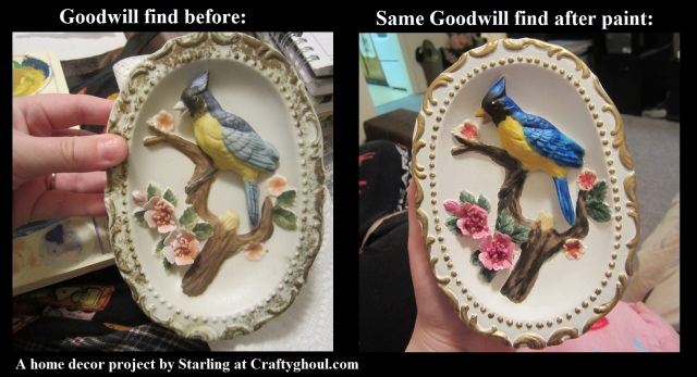 Goodwill painted birds