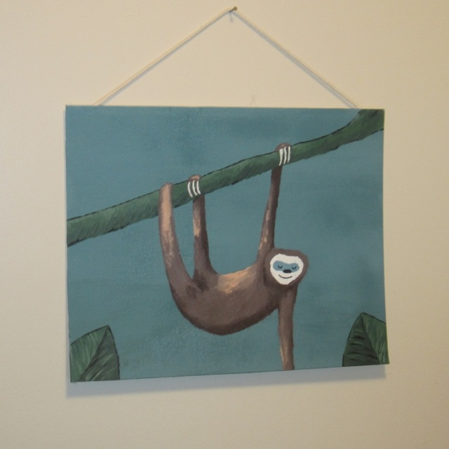 sloth painting 1