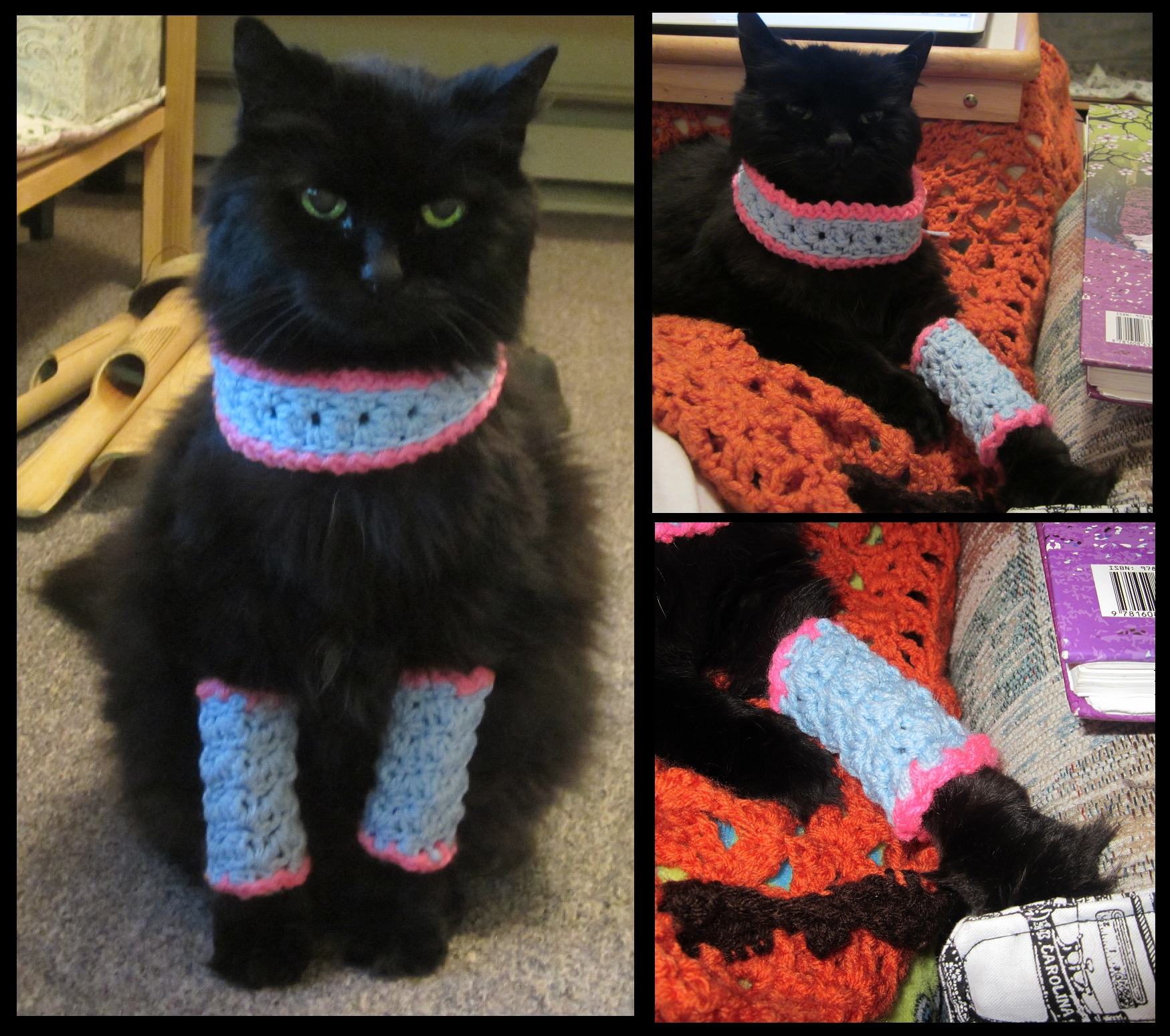Marie Antoinette Kitty Cat Crochet Leg Warmers and Cowl ...