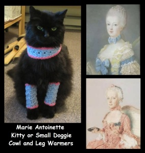 Marie Antoinette Kitty Cat Cowl and Leg Warmers Crochet Pattern