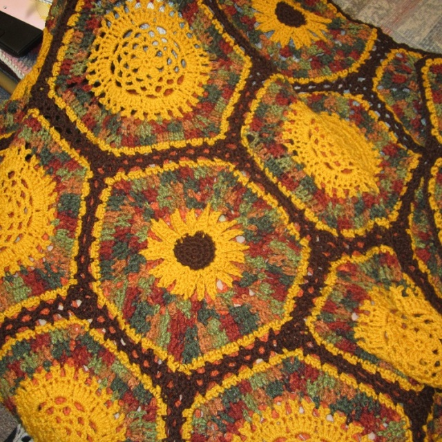 sunflower throw 1