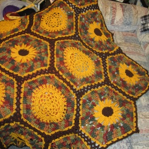 sunflower throw 2