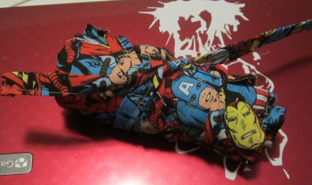 rolled comic book hook case