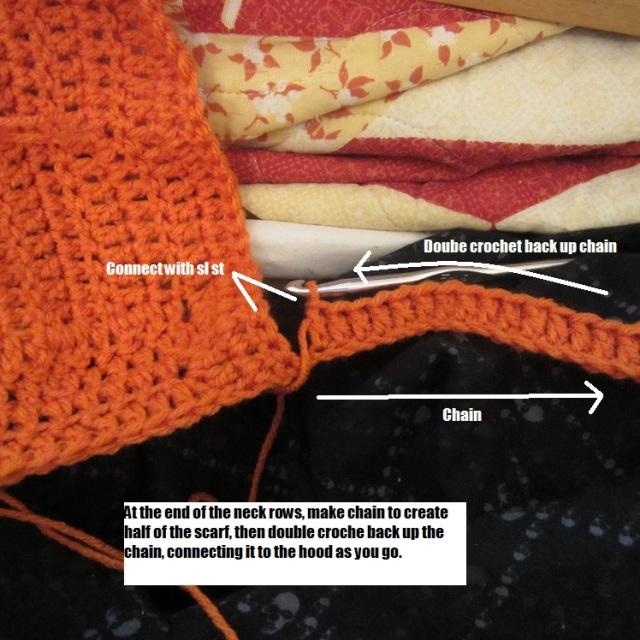 create scarf chain