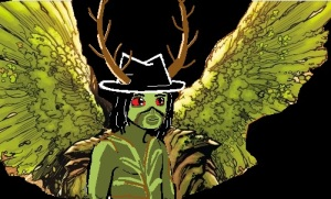 Valtiel makes an awesome doodly Swamp Thing!