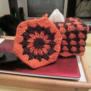 Tissue Box Cozy and Ice Pack Cozy FREE crochet pattern.