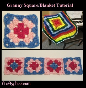 Beginner Tutorial for Granny Square Blanket or a simple, smaller Granny Square.