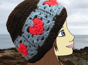 Head Over Heels Granny Heart Square Crochet Pattern.