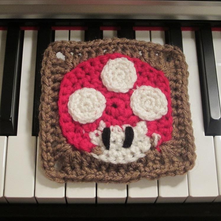 Mushroom Square Free Crochet Pattern Craftyghoul