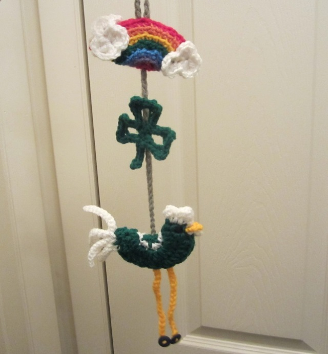 green rooster charm