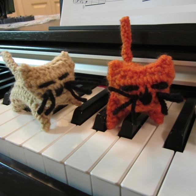 Kitty piano close up