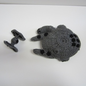 Millennium Falcon and Tie Fighter free crochet pattern