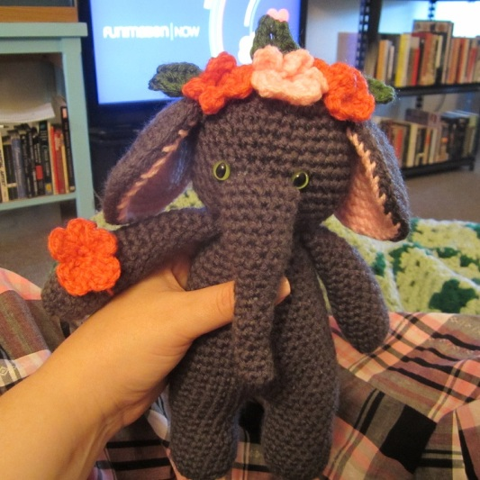 I made a Crochet Elephant from a FREE pattern I found