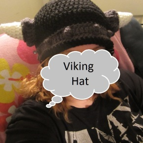 viking hat crochet pattern image